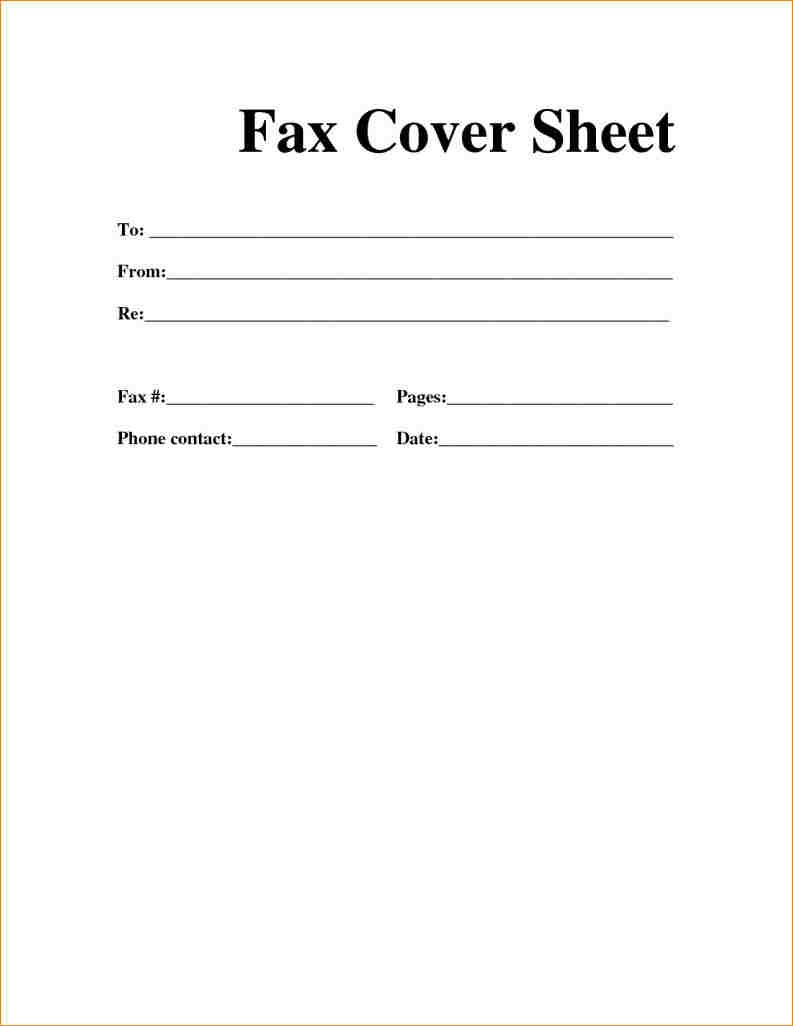 Printable Fax Cover Sheet Pdf | Ellipsis - Free Printable Fax Cover Page
