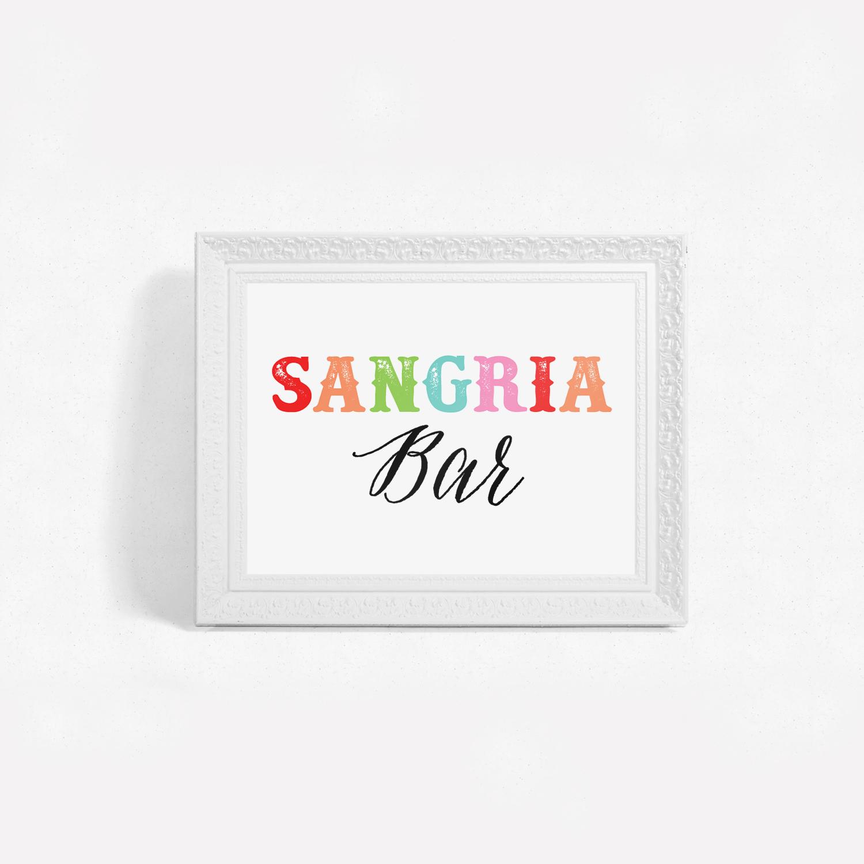 Printable Fiesta Sangria Bar Signs – Little Magic Prints - Free Sangria Bar Sign Printable