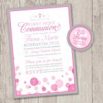 Printable : First Holy Communion Invitations & Free Matching | Etsy   First Communion Printables Free