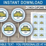 Printable Fortnite Cupcake Toppers Template | Fortnite Theme Party   Free Printable Fortnite Cupcake Toppers