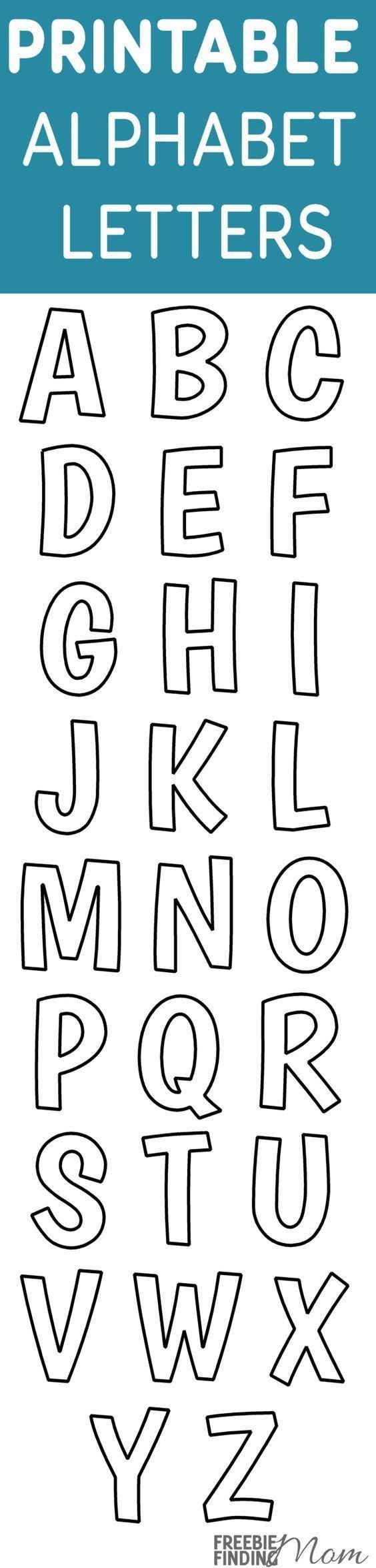 Printable Free Alphabet Templates | Painting Ideas | Alphabet - Free Printable Alphabet Stencil Patterns
