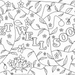 Printable Get Well Soon Coloring Pages   Coloring Home   Free Printable Get Well Soon Cards
