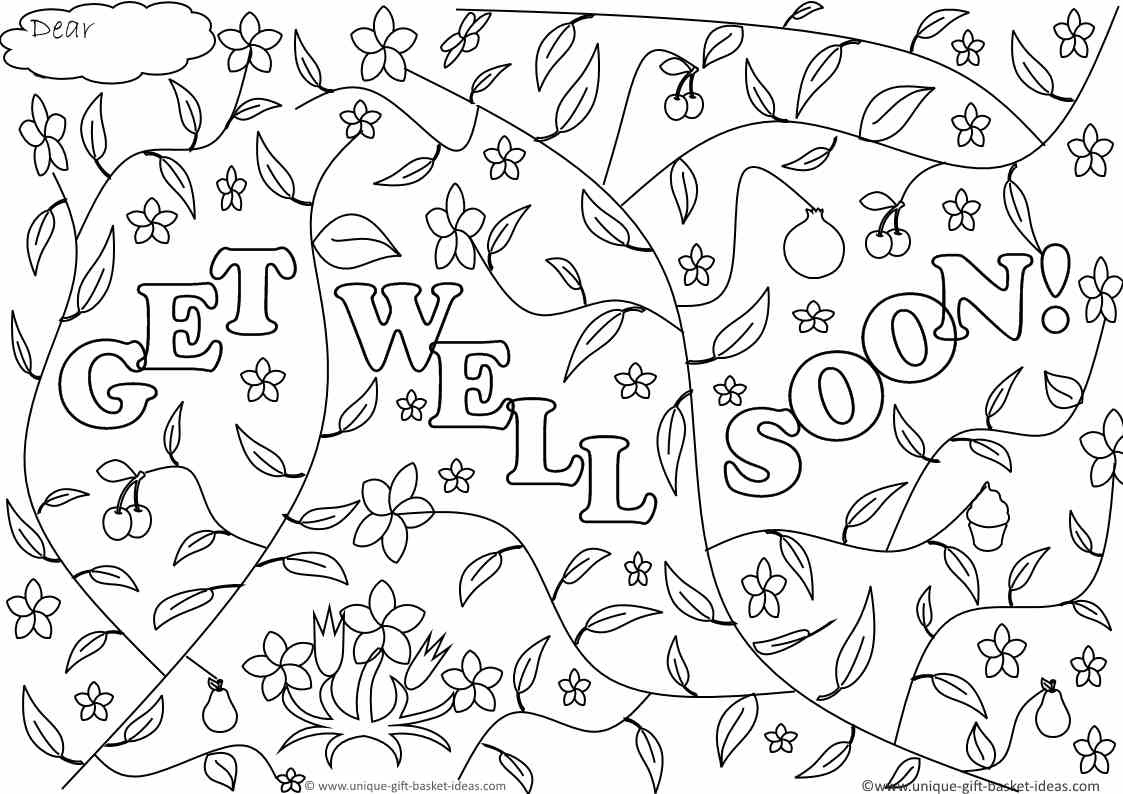 Printable Get Well Soon Coloring Pages - Coloring Home - Free Printable Get Well Soon Cards