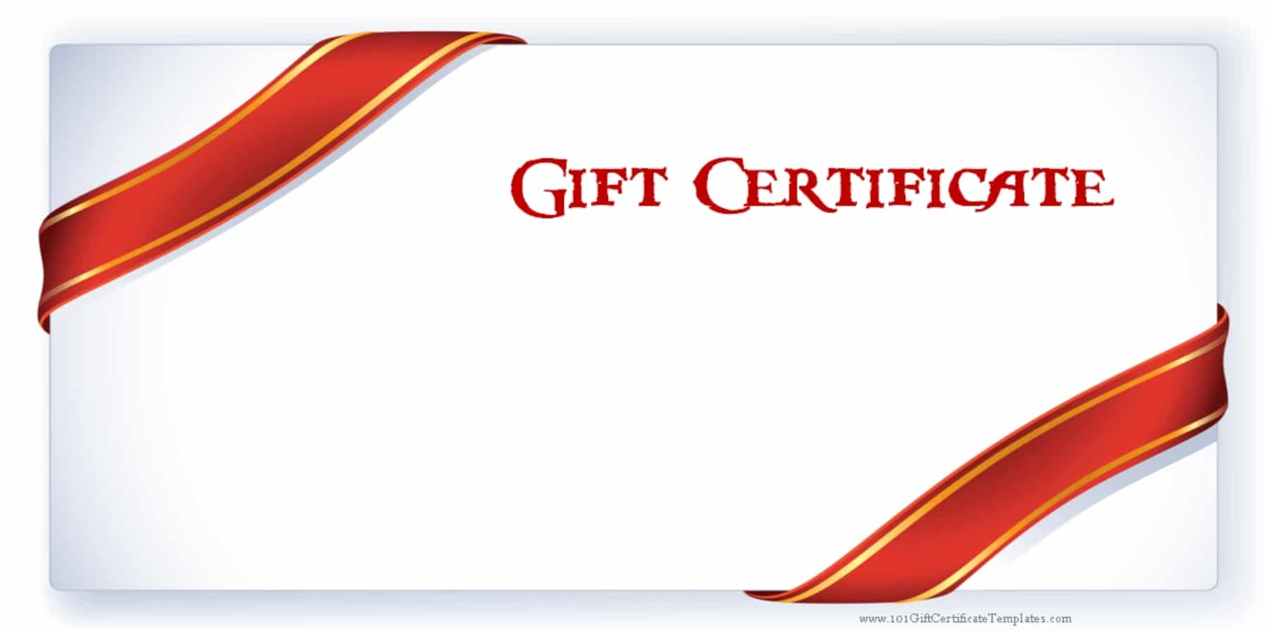 Printable Gift Certificate Templates - Free Printable Gift Certificate Template