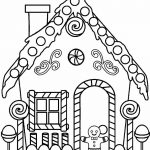 Printable Gingerbread House Coloring Pages For Kids | Cool2Bkids   Free Gingerbread House Printables