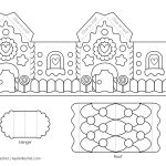 Printable Gingerbread House Template To Color   Ayelet Keshet   Free Gingerbread House Printables