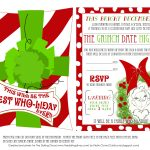 Printable Grinch Invitations | Christmas | Grinch Christmas Party   Free Grinch Printables