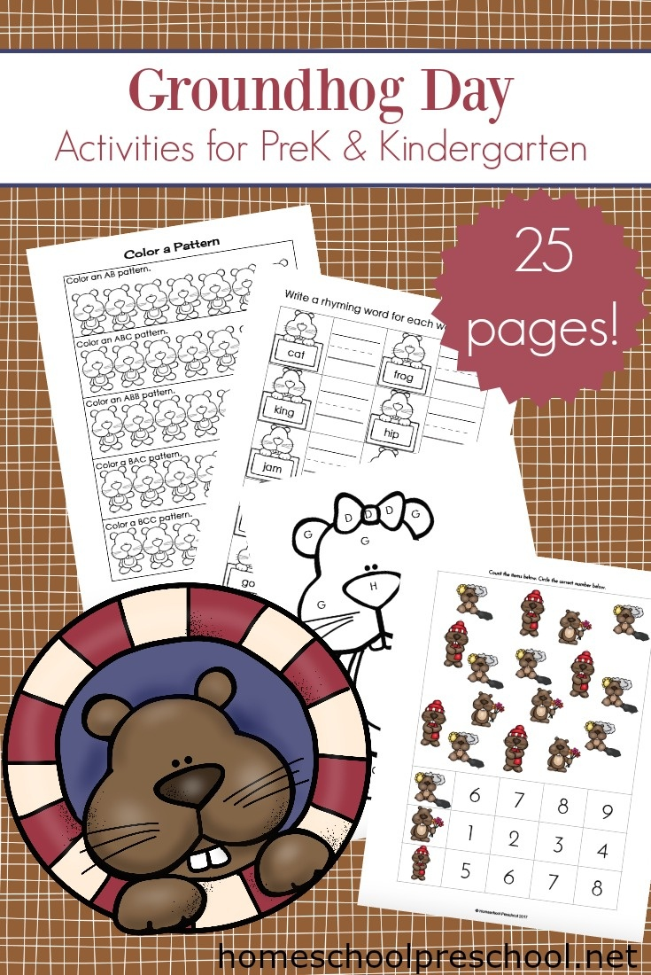 Printable Groundhog Day Activities For Preschoolers - Free Groundhog Printables Preschool