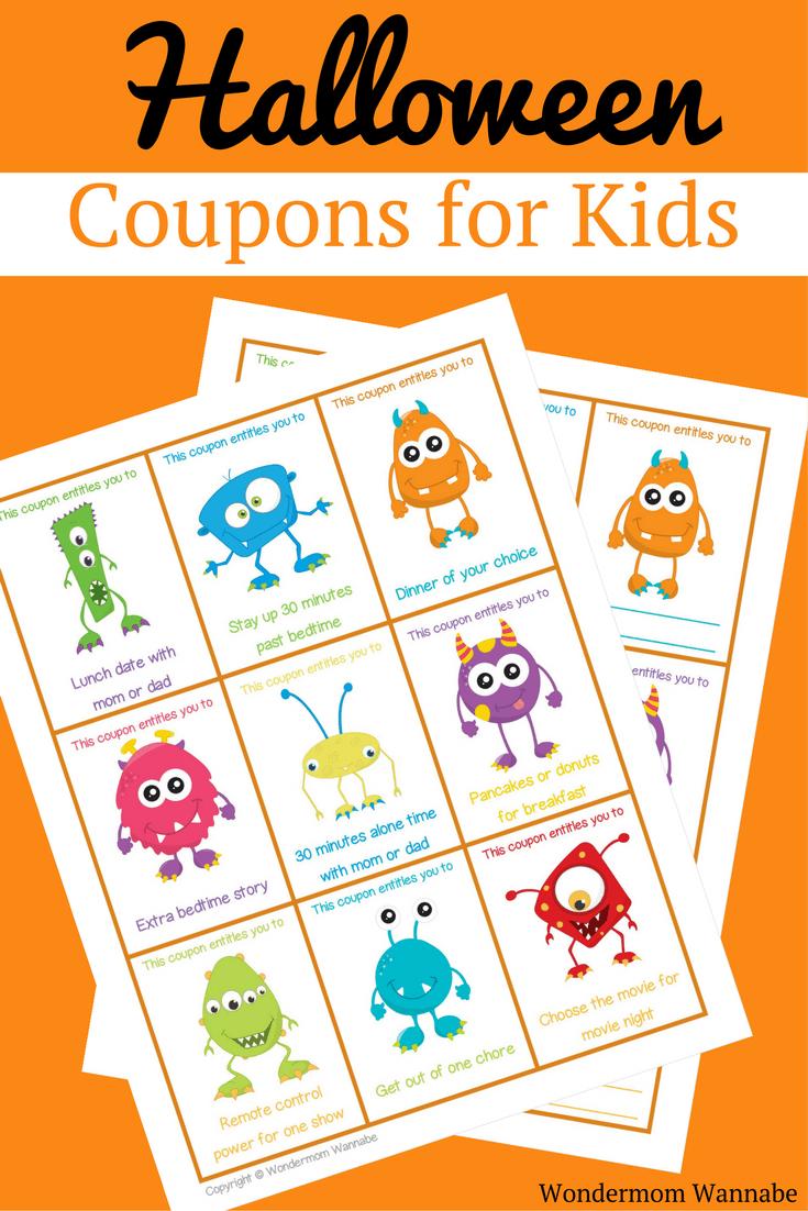 Printable Halloween Coupons For Kids - Free Printable Halloween Candy Coupons