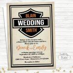 Printable Harley Davidson Biker Motorcycle Wedding Personalized For   Motorcycle Invitations Free Printable