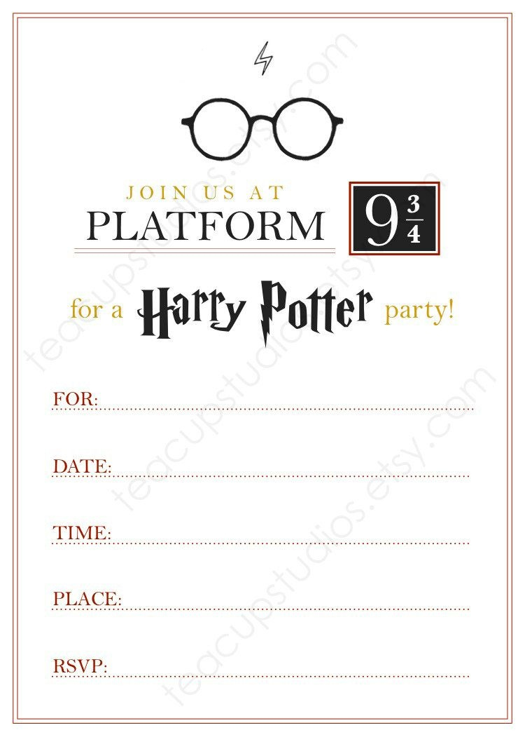 Printable Harry Potter Invitation - Pdf | My Inner Nerd | Harry - Harry Potter Printables Pdf Free