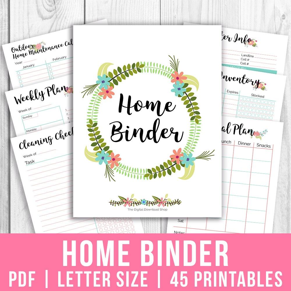 Printable Home Management Binder- Floral- A Cultivated Nest - Free Home Organization Binder Printables