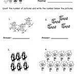 Printable Kindergarten Worksheets | Counting Worksheet   Free   Free Printable Worksheets For Lkg Students