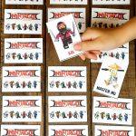Printable Lego Ninjago Games   Memory & Shadow Match   Happiness Is   Free Printable Ninjago Valentine Cards