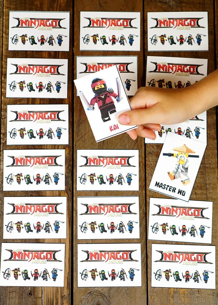 Printable Lego Ninjago Games - Memory & Shadow Match - Happiness Is - Free Printable Ninjago Valentine Cards