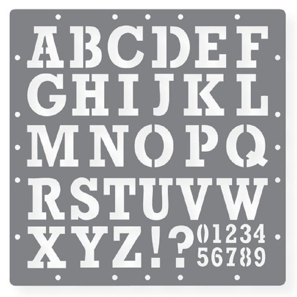 Printable Letters Stencil Of Alphabets, Numbers And Symbols - Free Printable Alphabet Stencil Patterns