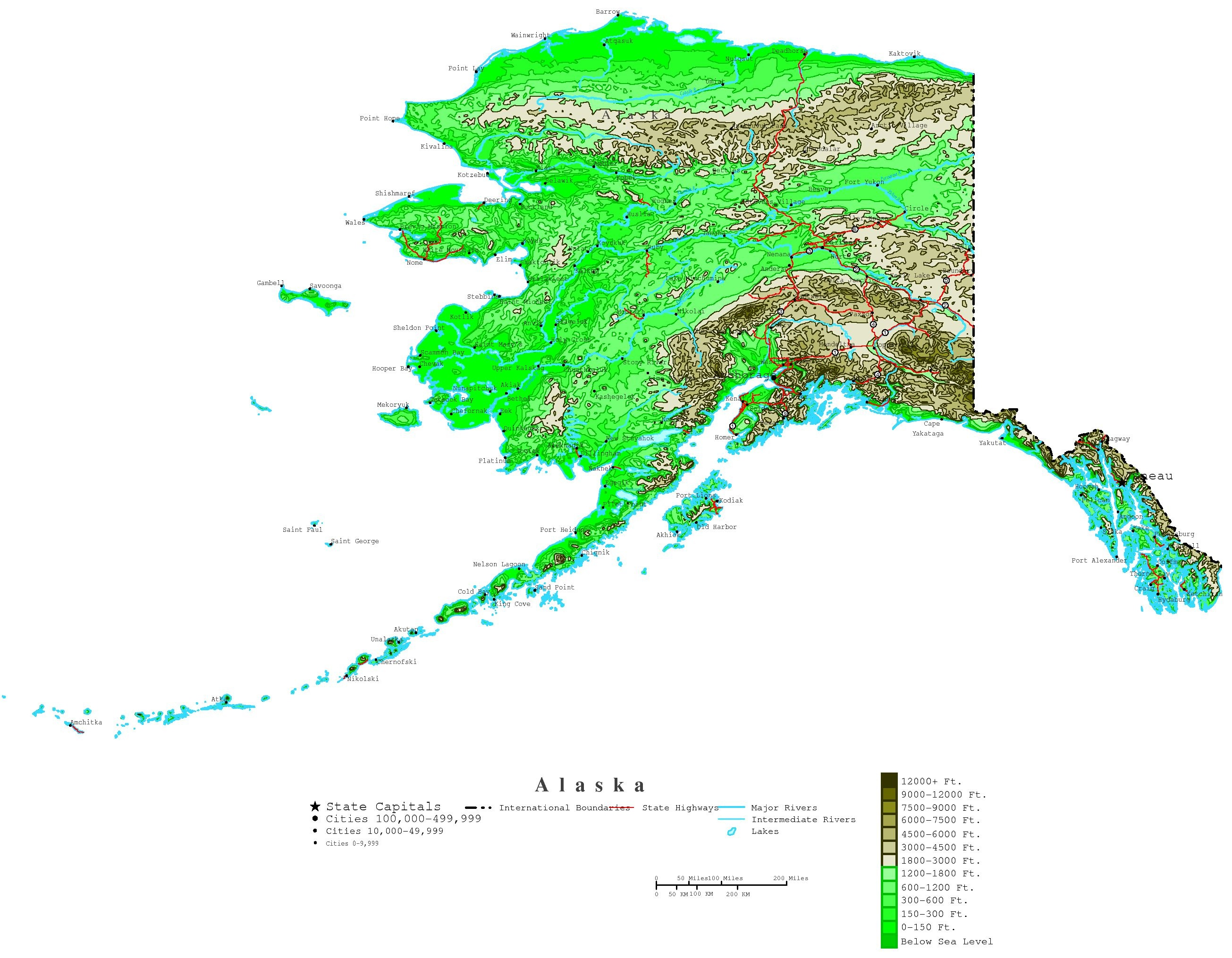 Printable Map Of Alaska And Travel Information   Download Free - Free Printable Pictures Of Alaska