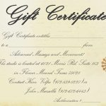 Printable Massage Gift Certificate Template   Free Printable Gift Certificate Templates For Massage