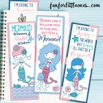 Printable Mermaid Bookmarks Set   Fun For Little Ones   Anime Bookmarks Printable For Free