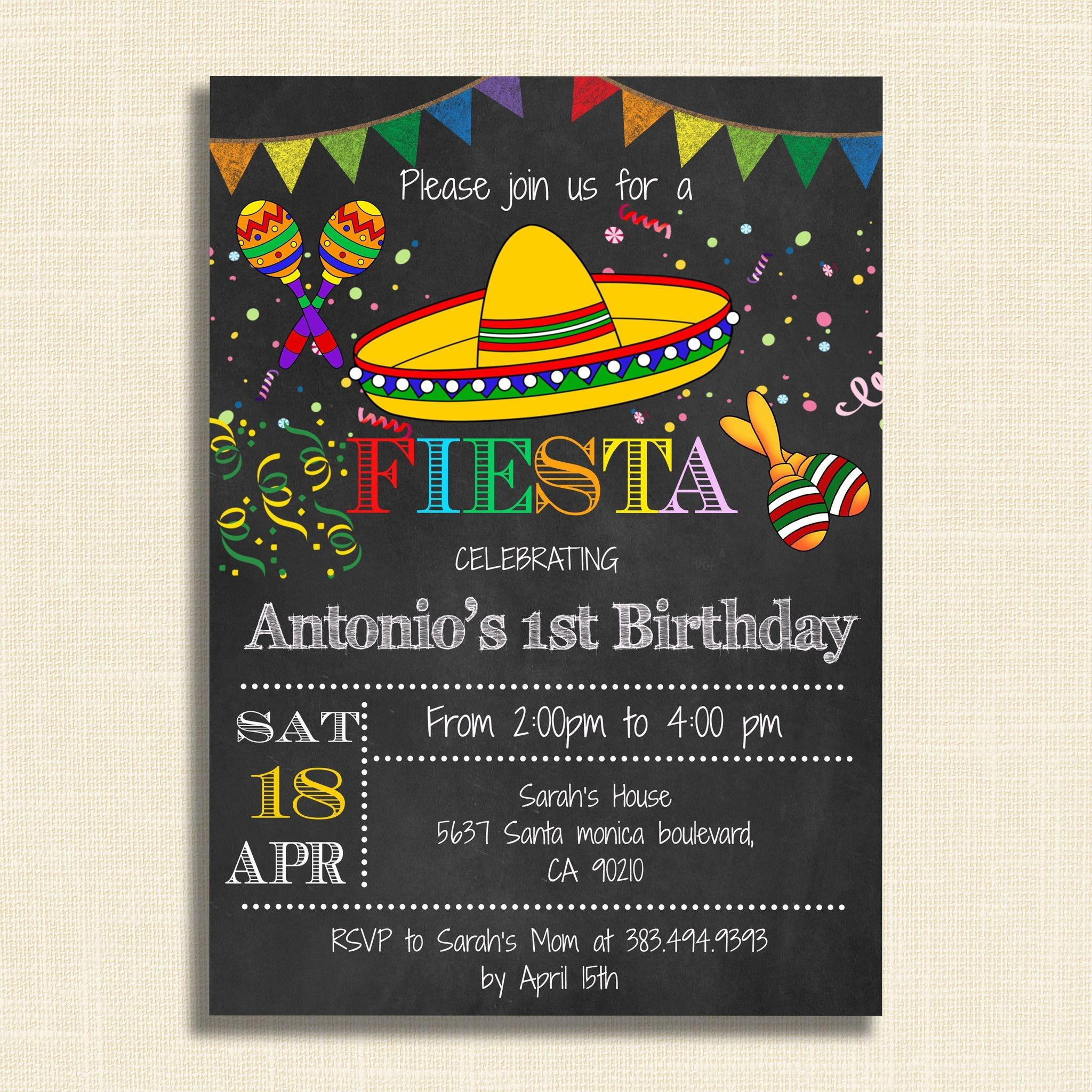 Printable Mexican Fiesta Party Invitations – Diy Party Invitation - Free Printable Mexican Fiesta Invitation Templates