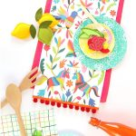 Printable Mexican Otomi Table Runner | Free Printables | Table   Free Printable Mexican Party Decorations
