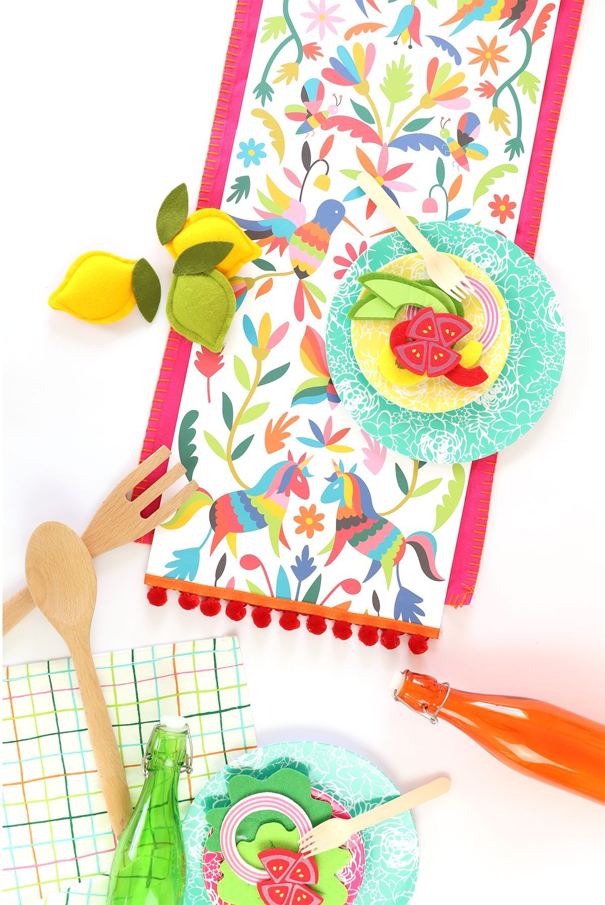 Printable Mexican Otomi Table Runner | Free Printables | Table - Free Printable Mexican Party Decorations
