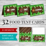 Printable Minecraft Food Labels   Minecraft Printable Birthday Party   Free Printable Minecraft Food Labels