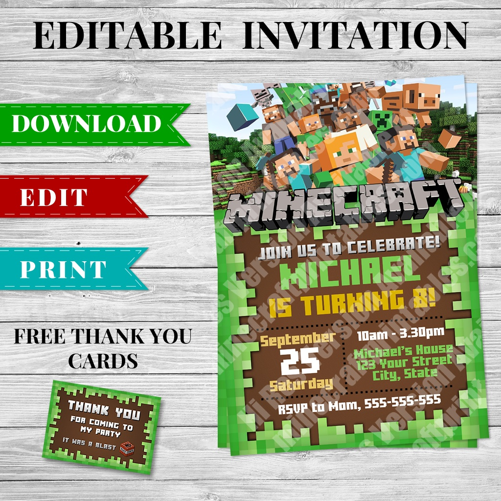 photo about Minecraft Labels Printable named Free of charge Minecraft Printables Cost-free Printable