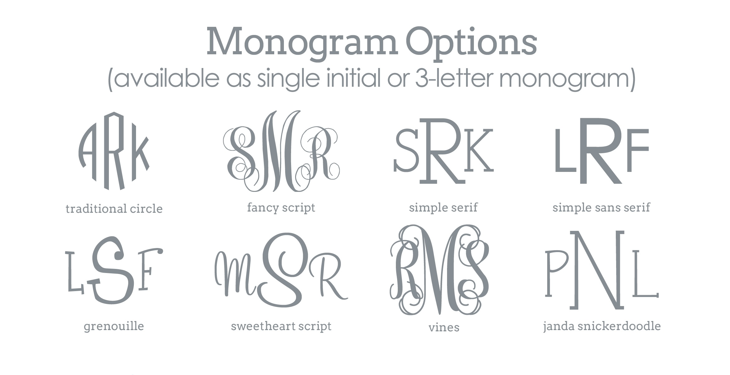 Printable Monogram Letters - Design Templates - Free Printable Monogram Initials