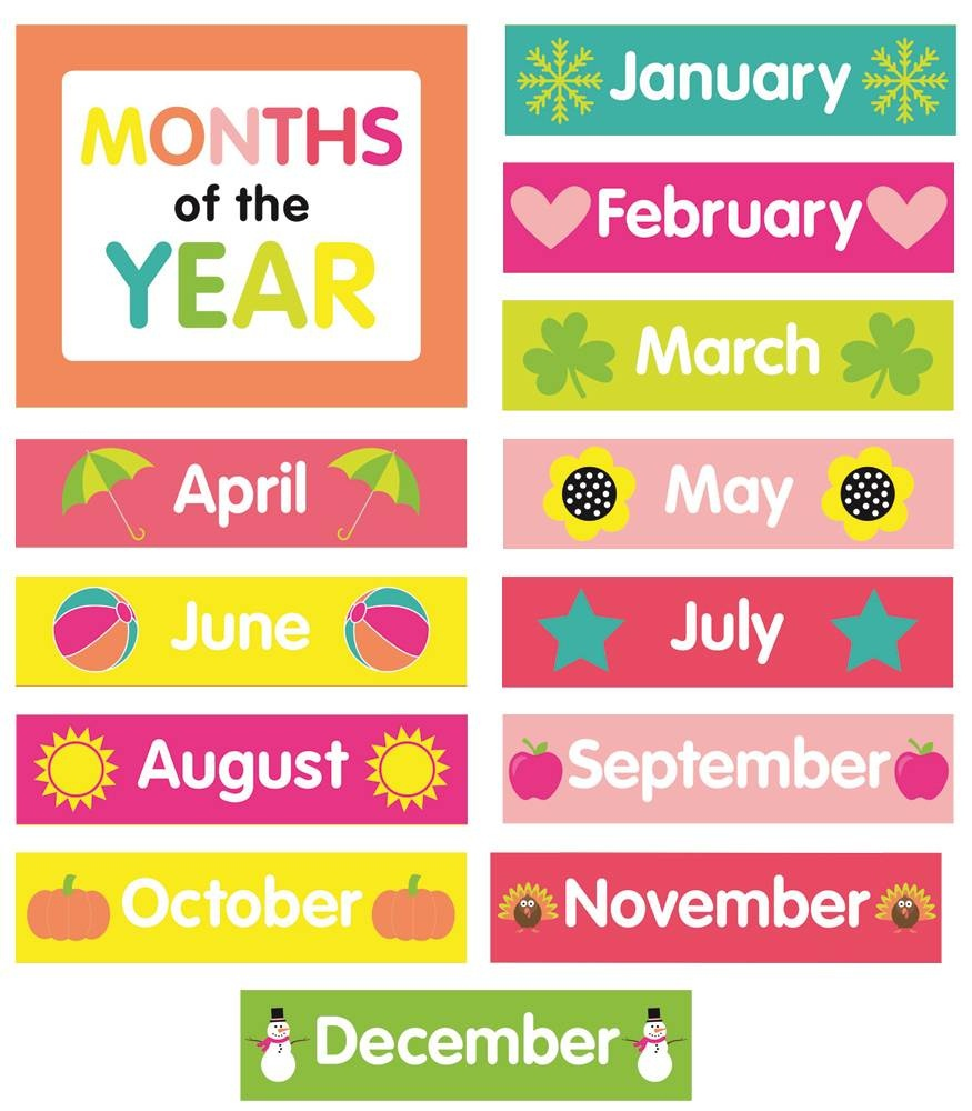 Printable Months Of The Year | Ellipsis - Free Printable Months Of The Year Chart