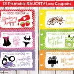 Printable Naughty Love Coupons For Men Husband Boyfriend, Sexy   Free Printable Kinky Coupons For Him