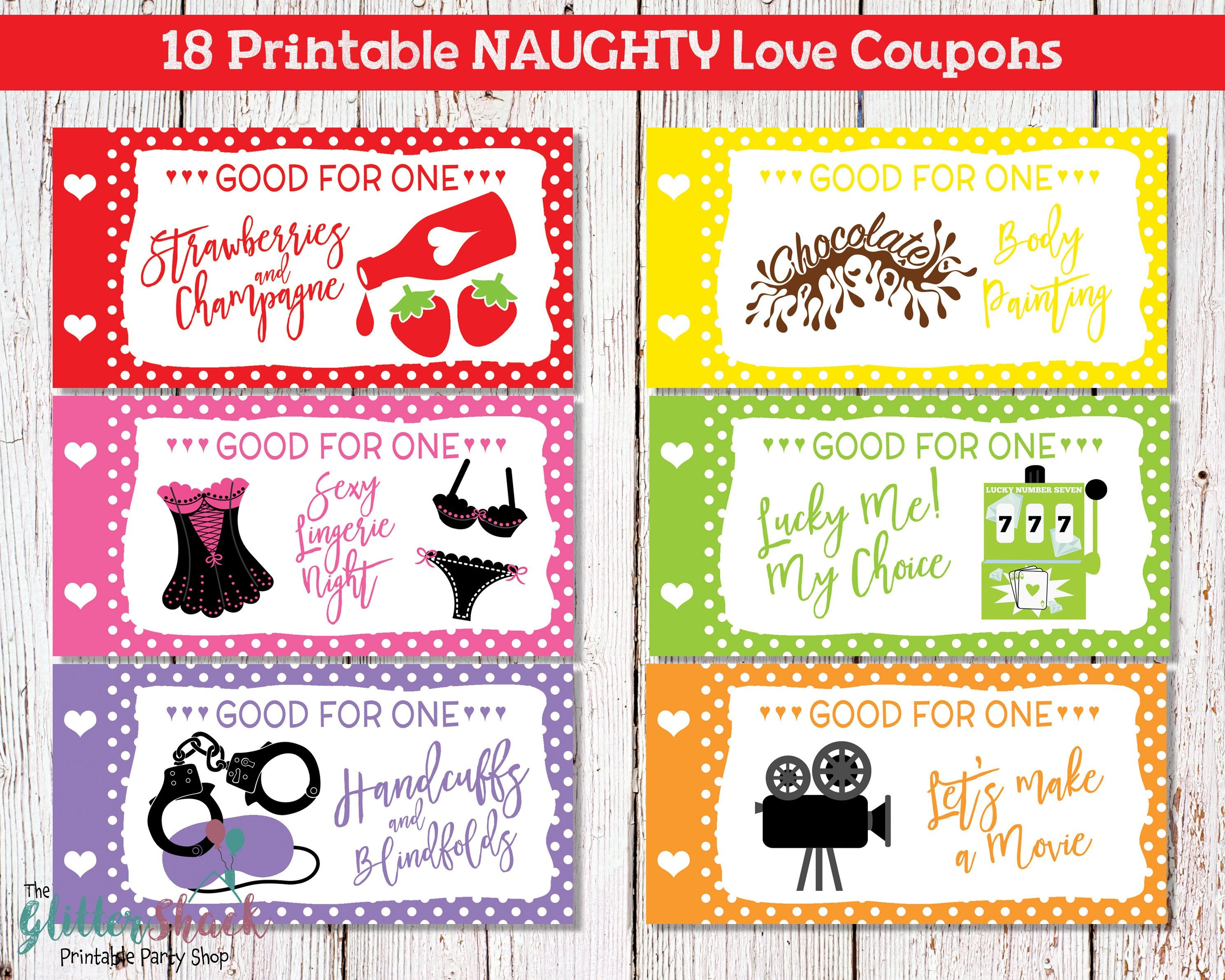 Printable Naughty Love Coupons For Men Husband Boyfriend, Sexy - Free Printable Kinky Coupons For Him