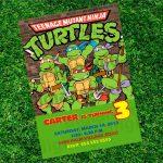 Printable Ninja Turtle Invitations Awesome Free Printable Ninja   Free Printable Tmnt Birthday Invitation Template
