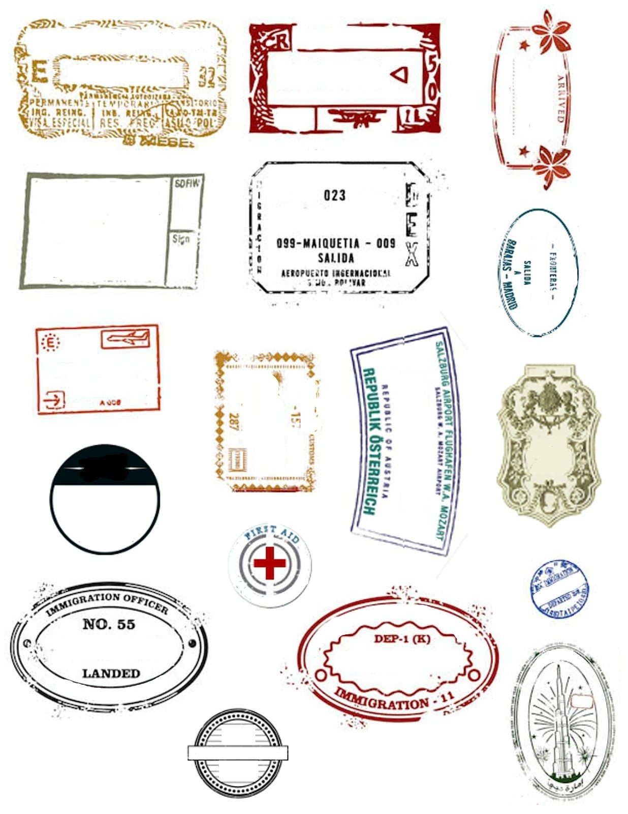 Printable Passports And Customizable Stamps | Yw Camp | Passport - Free Printable Passport Template