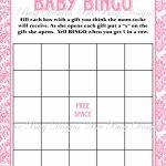 Printable Pink Damask Baby Shower Bingo Game Instant Download | Bee   Baby Bingo Game Free Printable