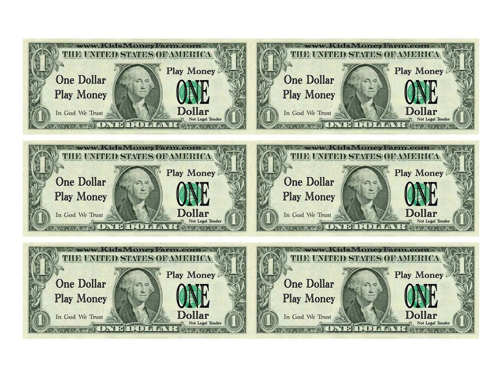 Printable Play Money For Kids | Printable | Printable Play Money - 100 Dollar Bill Printable Free