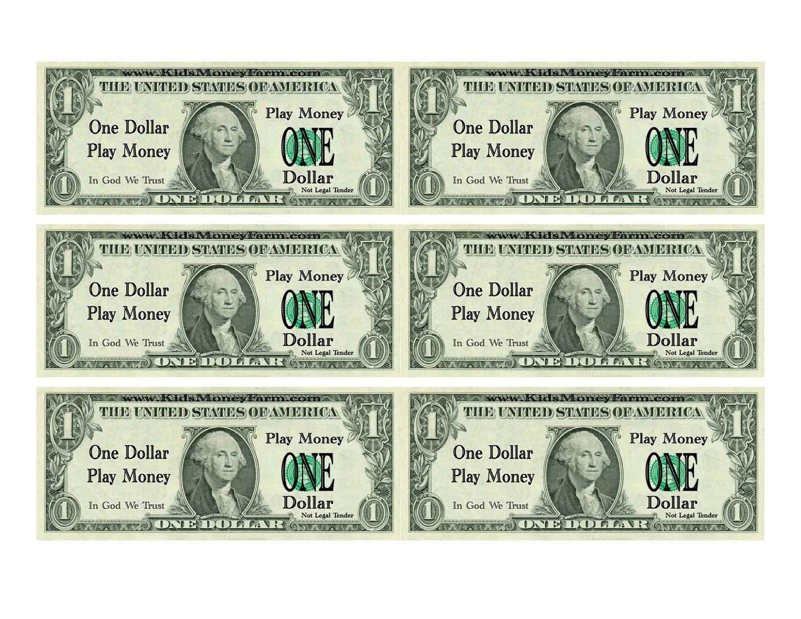 Printable Play Money For Kids | Printable | Printable Play Money - Free Printable Fake Money That Looks Real