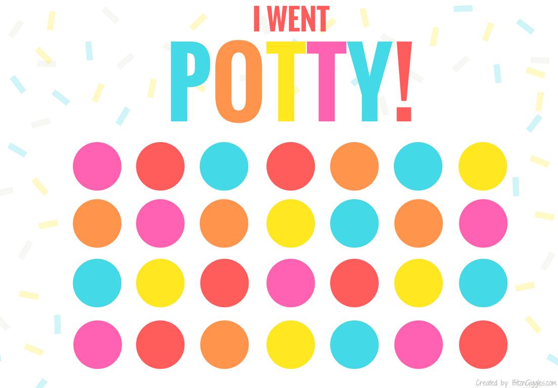 Printable Potty Training Chart - Bitz & Giggles - Potty Training Chart Free Printable