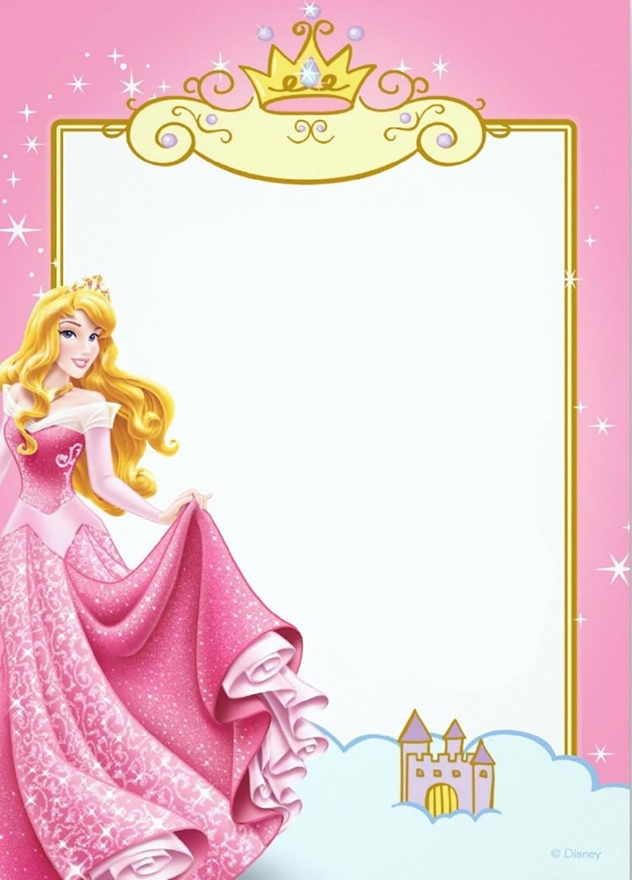 Printable Princess Invitation Card | Scrapbooking | Princess - Free Printable Princess Invitation Cards