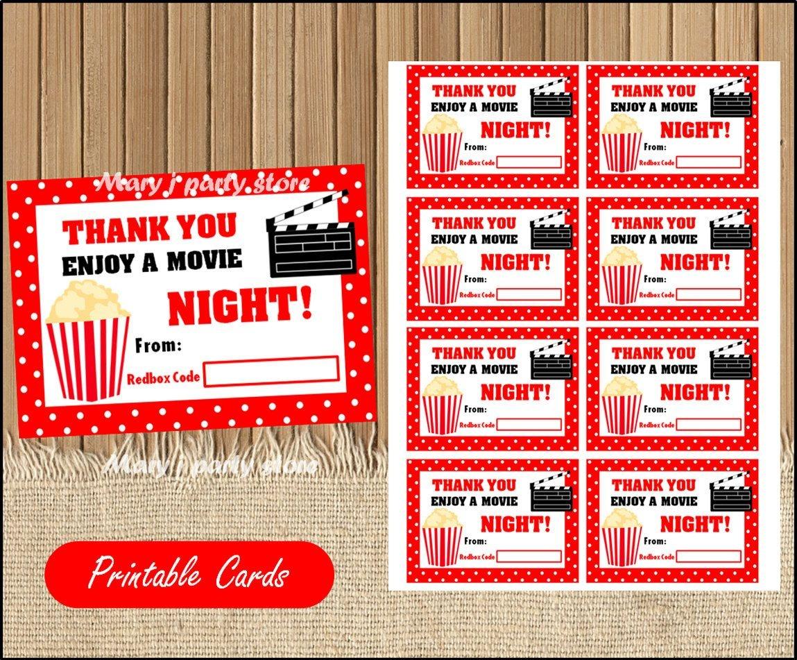 Printable Redbox Gift Card Teacher Appreciation Gift Card | Gift - Free Printable Redbox Gift Tags