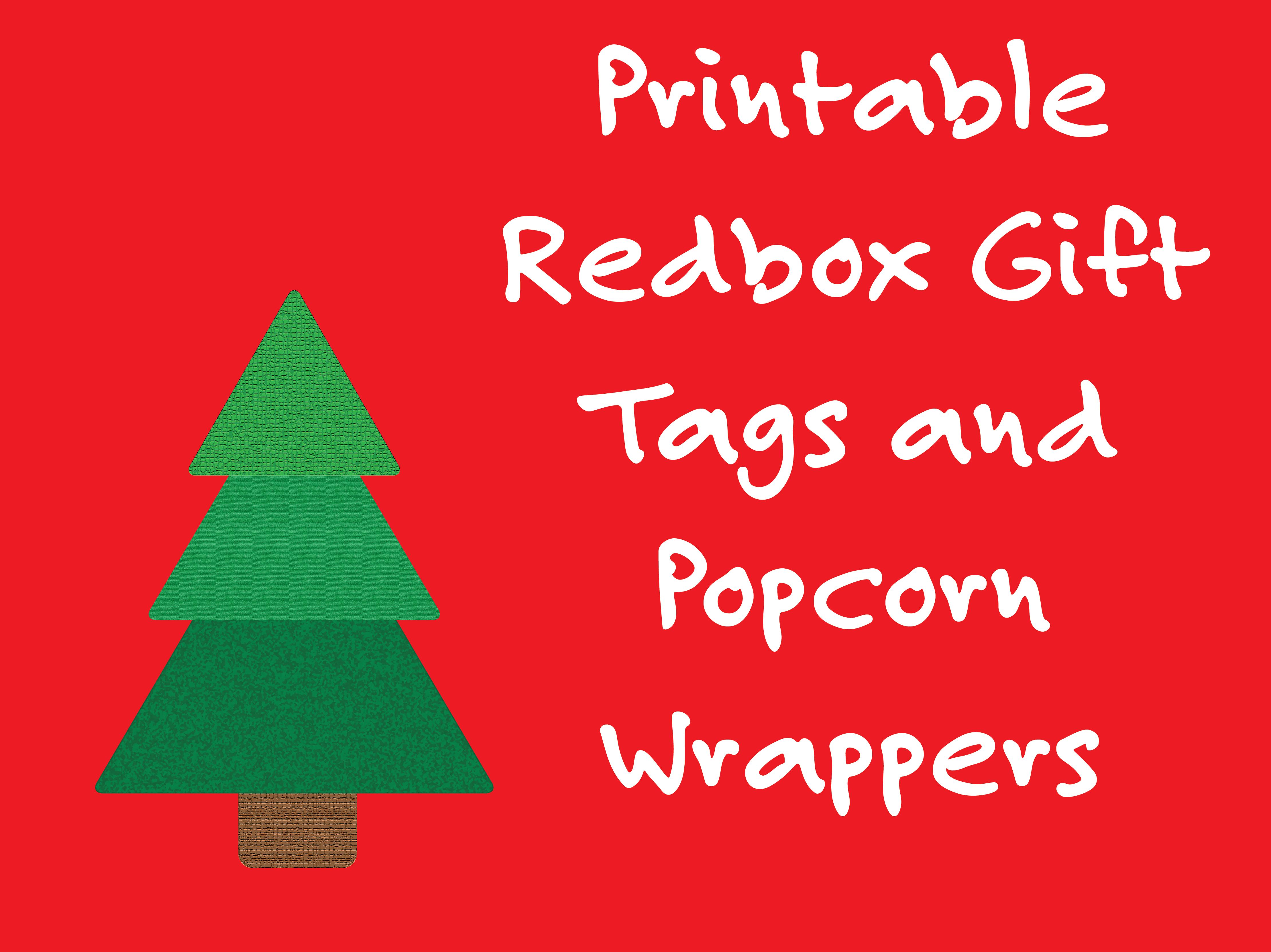 Printable Redbox Gift Tags And Popcorn Wrappers – Deeper Kidmin - Free Printable Redbox Gift Tags