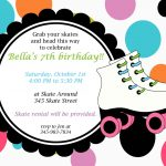 Printable Roller Skating Invitations | Birthday Ideas In 2019   Free Printable Skateboard Birthday Party Invitations