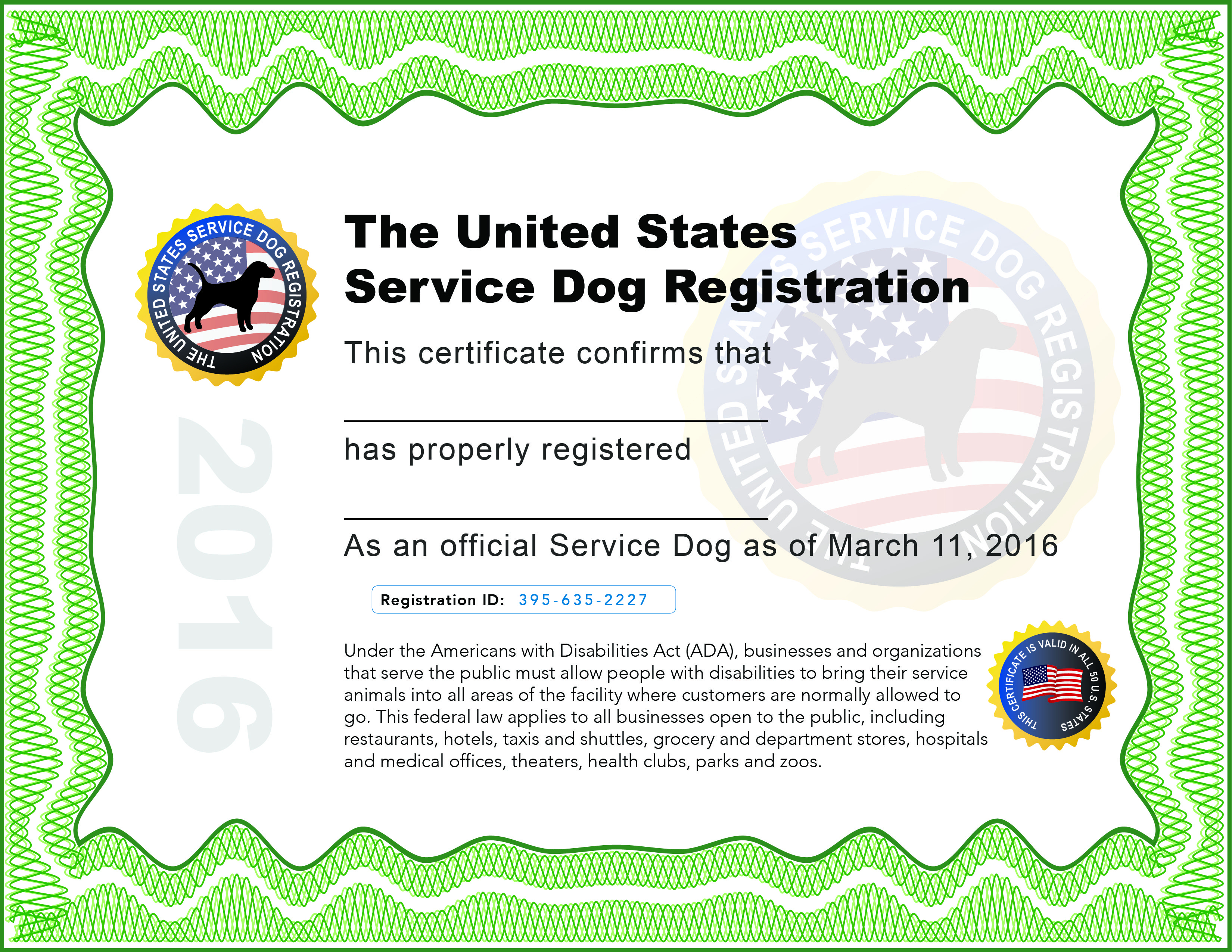 Printable Service Dog Certificate (67+ Images In Collection) Page 1 - Free Printable Service Dog
