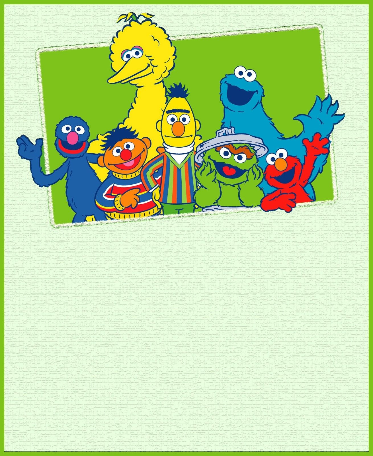 Printable Sesame Street Party Invitation Card | Jacob's 1St Birthday - Free Sesame Street Printables