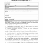 Printable Snow Removal Contract Template Canasbergdorfbibco Snow   Free Printable Snow Removal Contract