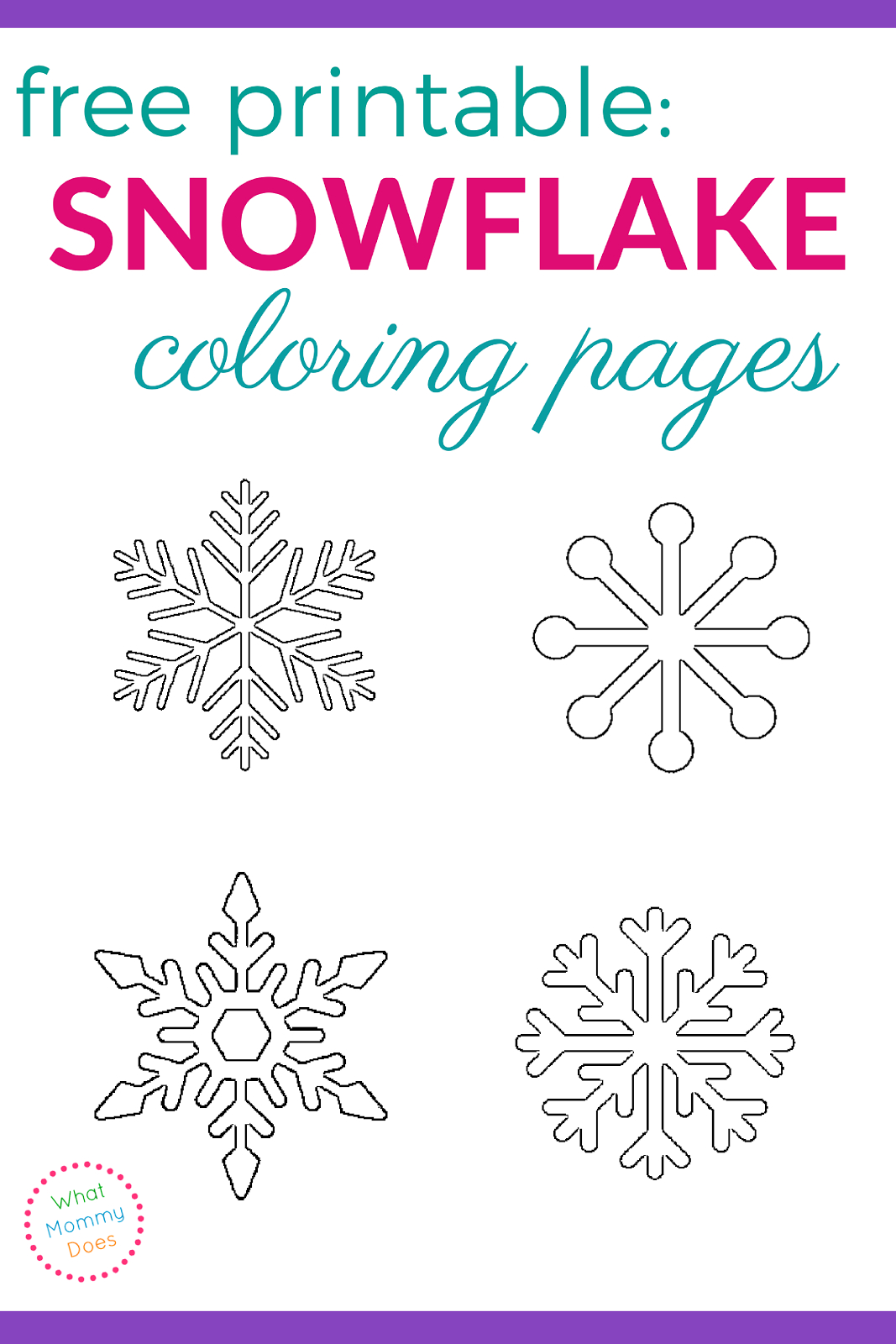 Printable Snowflake Coloring Pages | Download | Snowflake Coloring - Free Snowflake Printable Coloring Pages