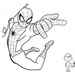 Printable Spiderman Coloring Pages Marvel Web Slinger – Free   Free Printable Spiderman Coloring Pages