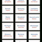 Printable States And Capitals Flash Cards   State Capital Flashcards Printable Free