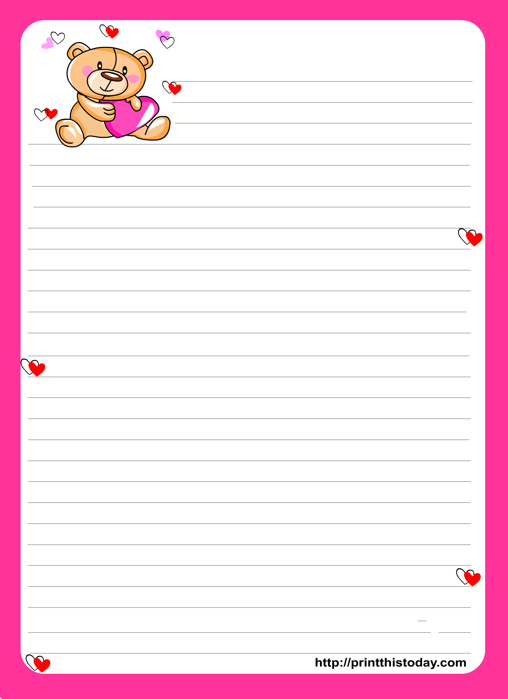 Printable Stationery Paper - Google Search | Stationery - Printables - Free Printable Stationery Paper