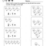 Printable Subtraction Worksheet   Free Kindergarten Math Worksheet   Free Printable Subtraction Worksheets
